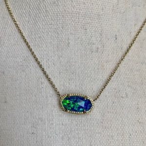 Kendra Scott Elisa Pendant Kyocera Opal